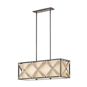 Светильник Kichler Cahoon 3 Light Linear Chandelier in AVI