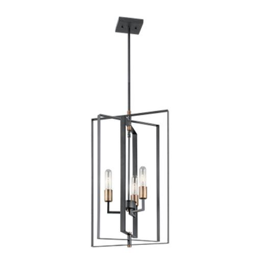 Светильник Kichler Taubert 3 Light Foyer Pendant BK