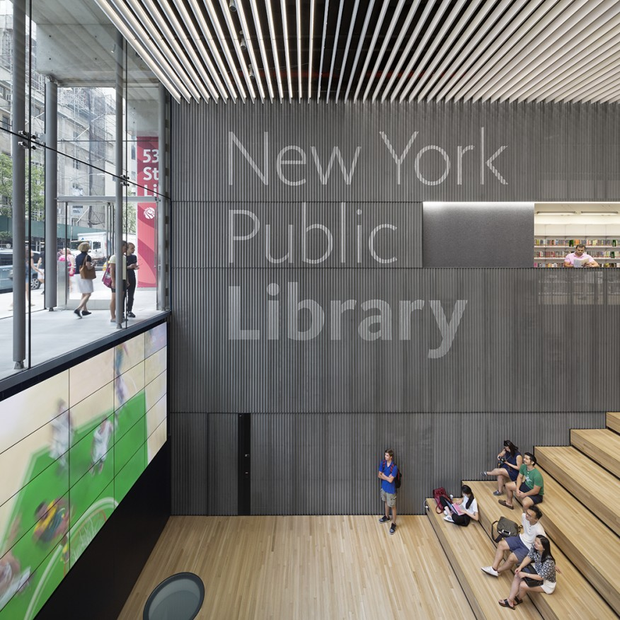 Освещение New York Public Library изображение2