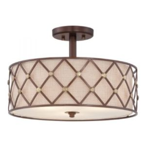 Светильник Quoizel Brown Lattice 3 Light Semi-Flush